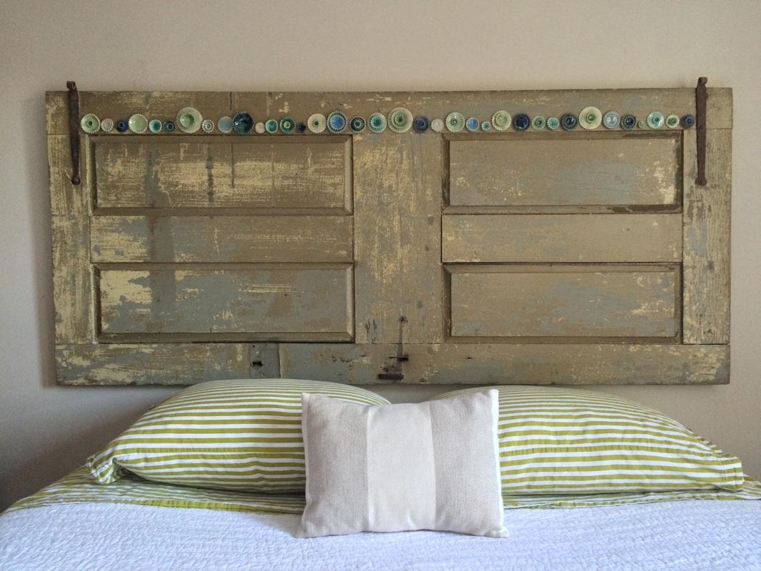 Headboard Wall System : Wood ceramic laura white carpenter